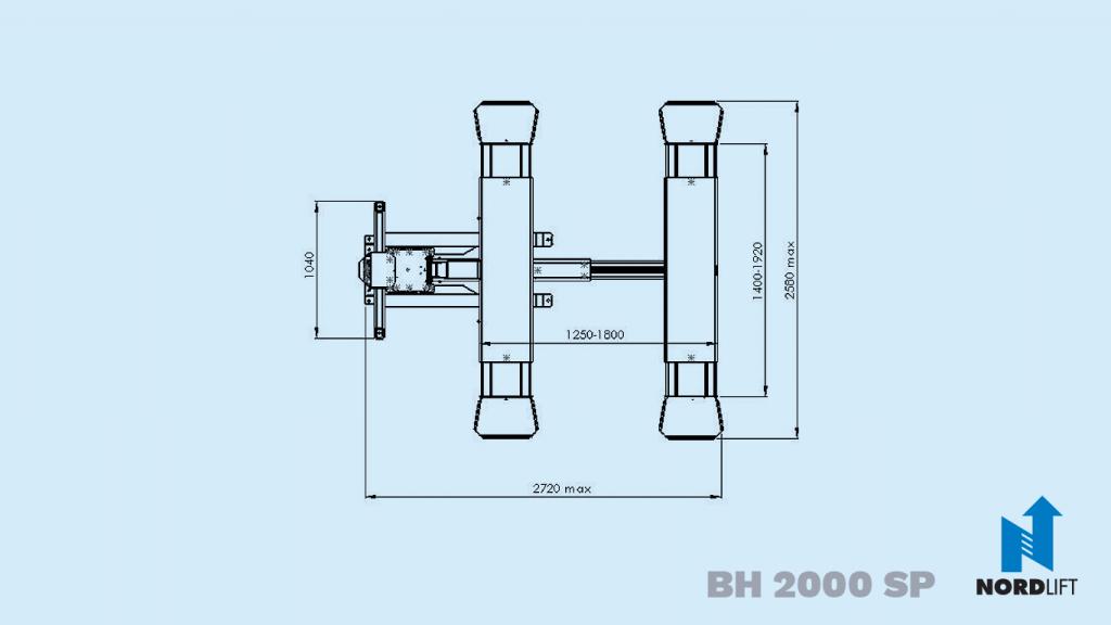 Nordlift yksipilarinostimet bh2000 sp mittapiirros 60